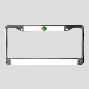 Rainbow Smiley License Plate Frame
