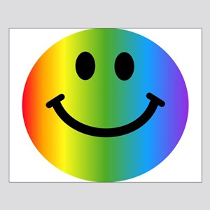 Rainbow Smiley Small Poster