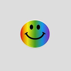 Rainbow Smiley Mini Button
