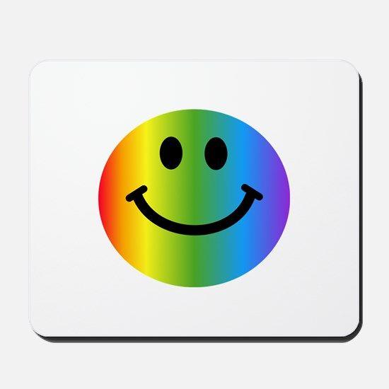 Rainbow Smiley Mousepad