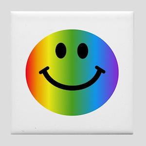 Rainbow Smiley Tile Coaster
