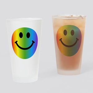 Rainbow Smiley Drinking Glass