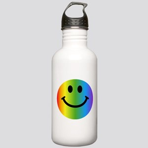 Rainbow Smiley Stainless Water Bottle 1.0L