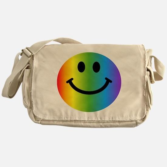 Rainbow Smiley Messenger Bag