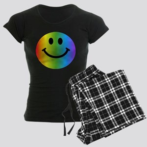 Rainbow Smiley Women's Dark Pajamas