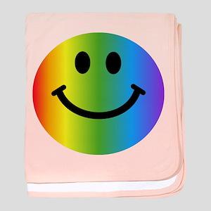 Rainbow Smiley baby blanket