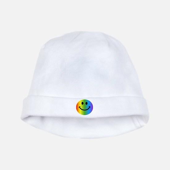 Rainbow Smiley baby hat