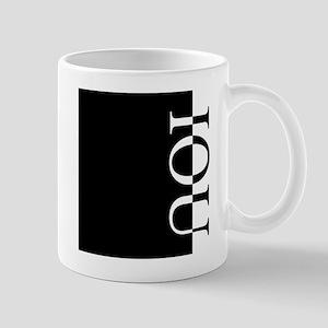 IOU Typography Mug