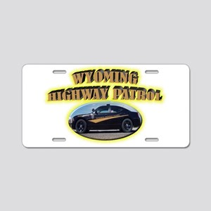 Wyoming Highway Patrol Aluminum License Plate