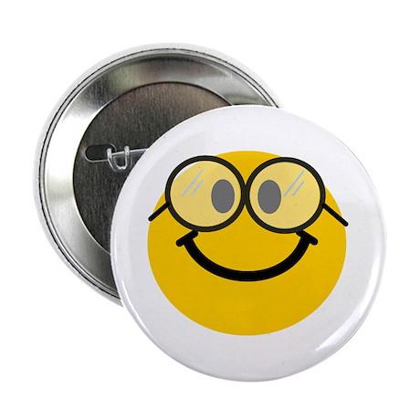 """Geek Smiley 2.25"""" Button"""