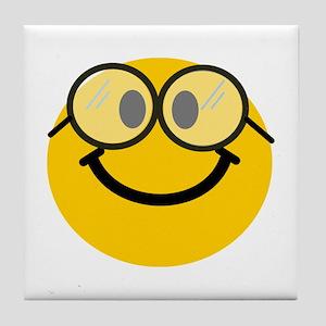 Geek Smiley Tile Coaster