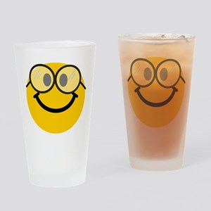 Geek Smiley Drinking Glass