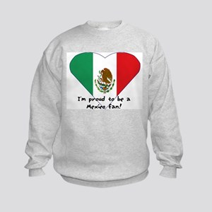 Mexico fan flag Kids Sweatshirt