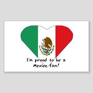 Mexico fan flag Rectangle Sticker