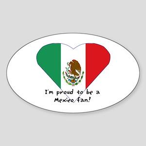 Mexico fan flag Oval Sticker