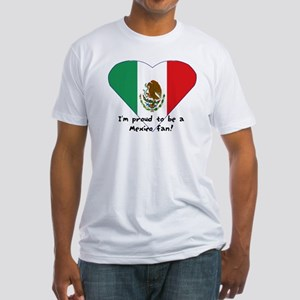 Mexico fan flag Fitted T-Shirt