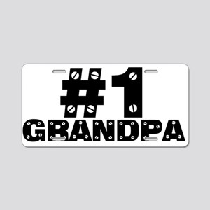 #1 Grandpa Aluminum License Plate