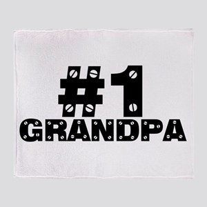 #1 Grandpa Throw Blanket