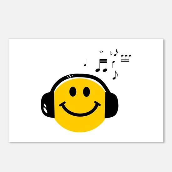 Music Loving Smiley Postcards (Package of 8)