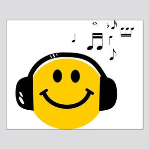 Music Loving Smiley Small Poster