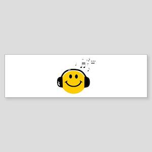Music Loving Smiley Sticker (Bumper)