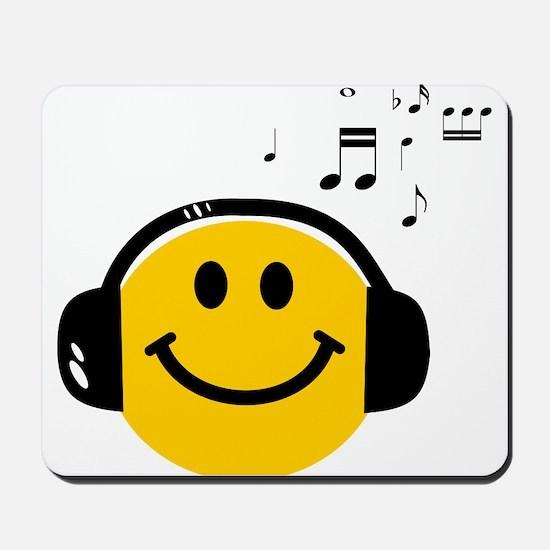 Music Loving Smiley Mousepad
