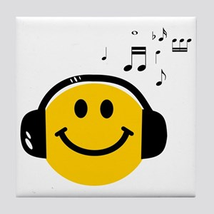 Music Loving Smiley Tile Coaster
