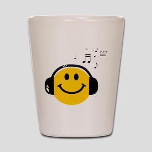 Music Loving Smiley Shot Glass