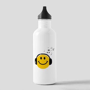 Music Loving Smiley Stainless Water Bottle 1.0L