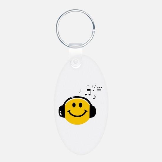 Music Loving Smiley Keychains