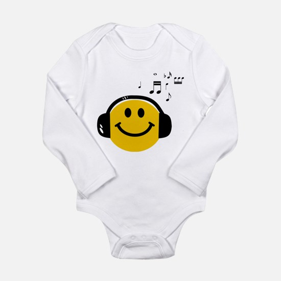 Music Loving Smiley Long Sleeve Infant Bodysuit