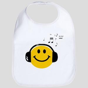 Music Loving Smiley Bib