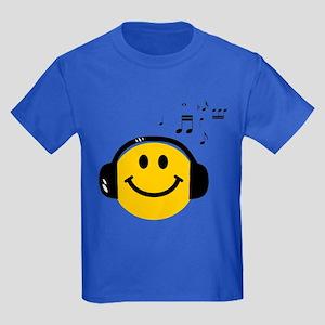 Music Loving Smiley Kids Dark T-Shirt