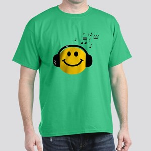 Music Loving Smiley Dark T-Shirt
