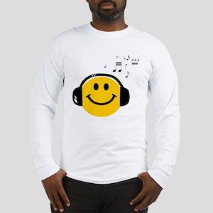 Music Loving Smiley Long Sleeve T-Shirt