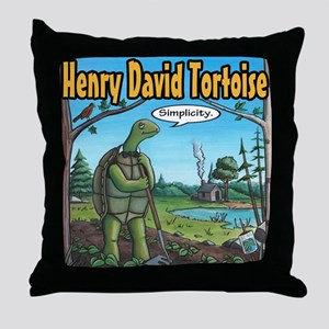 Henry David Tortoise Throw Pillow