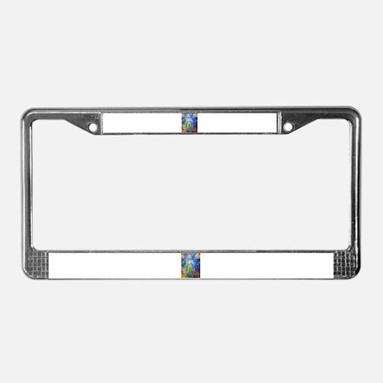 Desert, Night, southwest, art License Plate Frame