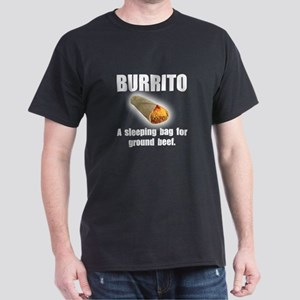 Burrito Sleeping Bag Dark T-Shirt