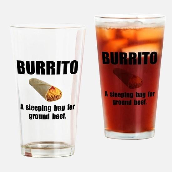Burrito Sleeping Bag Drinking Glass