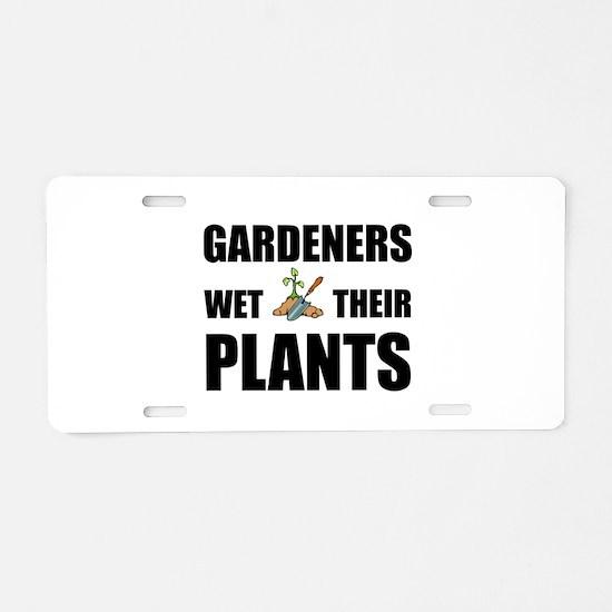 Gardeners Wet Plants Aluminum License Plate