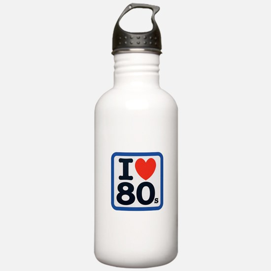 I Heart 80s Water Bottle