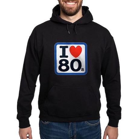 I Heart 80s Hoodie (dark)