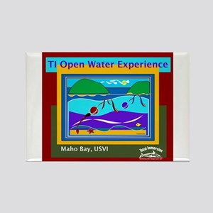 TI Open Water Experience Rectangle Magnet