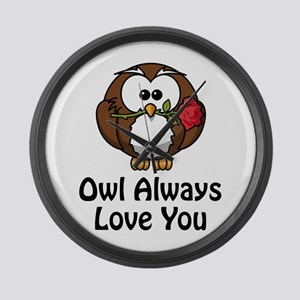 Owl Always Love You Large Wall Clock
