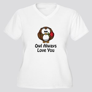 Owl Always Love You Women's Plus Size V-Neck T-Shi