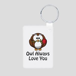 Owl Always Love You Aluminum Photo Keychain