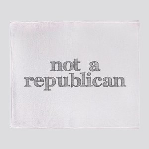 not a republican Throw Blanket