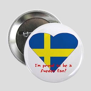 Sweden fan flag Button