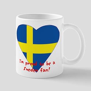 Sweden fan flag Mug