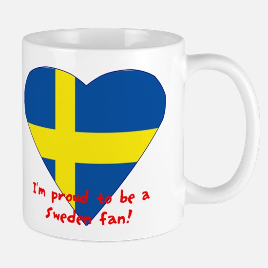 Sweden fan flag Mug